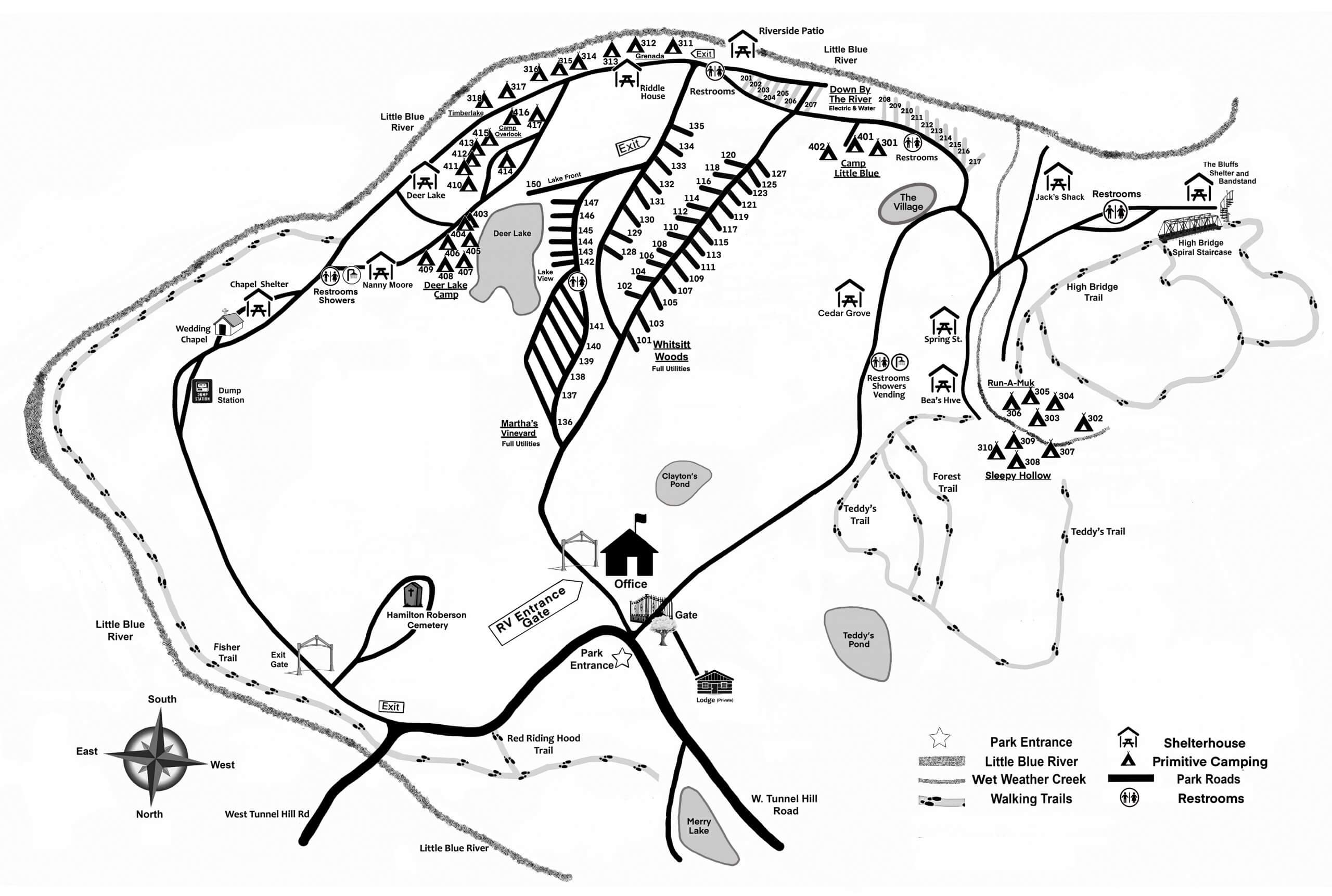Sycamore Springs Park Map